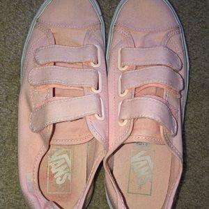 Pink Velcro vans!
